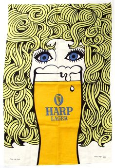 Spunti visual(Harp Lager tea towel 1970s)