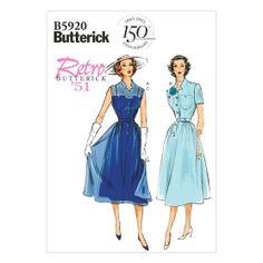 Misses' Dress, Belt and Slip-14-16-18-20-22 Pattern, , hi-res  I want!!