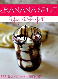 In the mood for a cool, but refreshing summer dessert that won't bust your waistline like ice cream will? Try this Banana Split Yogurt Parfait! It's so close to the real thing you'll never notice!