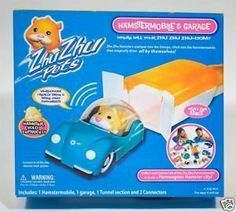 Zhu Zhu Pets Hamstermobile & Garage Exclusive Set with 1 Hamster Included by Zhu Zhu Pets. $29.99. ZhuZhu Pets Garage with Car  Zhu Zhu Pets Garage Door magically opens when the Zhu Zhu Pets hamster comes down the track, hops in the car and sprints down the road. Includes garage, sedan car and one tunnel track section with tunnel connectors.   Hamster Garage with Car can be connected to the Zhu Zhu Pets Funhouse and many other fun accessories to build your own humongous hamster h...