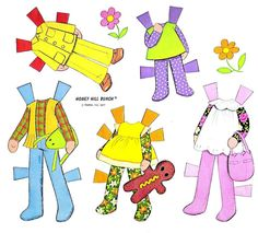 Paper Dolls~Honey Hill Bunch - Bonnie Jones - Picasa Webalbum * 1500 free paper dolls at Arielle Gabriel's The International Paper Doll Society and also free China and Japan paper dolls at The China Adventures of Arielle Gabriel *