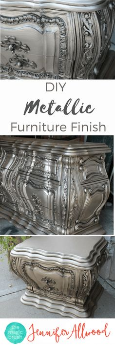 DIY Silver Furniture Finish | The Magic Brush