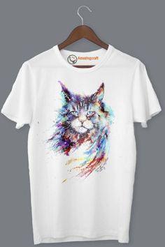 White Printed T-Shirt – Amazingcraft
