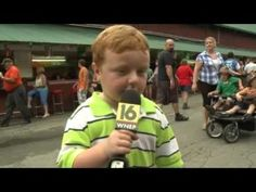 """Noah Ritter from Wilkes-Barre steals the show from Newswatch Sofia Ojeda during an interview at the Wayne County Fair. More great """"Apparently Kid"""" Funny Kids, Cute Kids, Kids Stealing, Live Television, And So It Begins, We Are The World, Old Love, Kids Videos, Live Tv"""