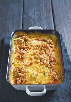 Kohlrabi curry gratin - food and drink Endive Recipes, Veg Recipes, Grilling Recipes, Healthy Recipes, Jucing Recipes, Quiche, Mackerel Recipes, Cabbage Recipes, Healthy Cooking
