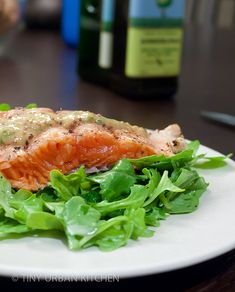 Grilled Salmon with Mint Honey Mustard Sauce - Tiny Urban Kitchen - - Mint Sauce, Salmon Sauce, Salmon Skin, Grilling Recipes, Fish Recipes, Honey Mustard Sauce, Mustard Salmon, Prepared Horseradish, Grilled Salmon Recipes