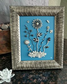Vintage Framed Jewelry Art Home Decor Family by RejeweledGallery