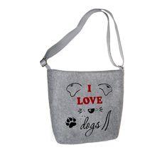 Dámská kabelka přes rameno Dogs MarkModern I Love Dogs, Reusable Tote Bags, Design, Fashion, Moda, Fashion Styles, Fashion Illustrations