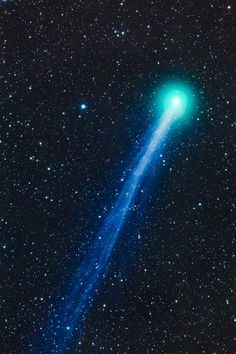 A close up of Comet Lovejoy near Silver City, New Mexico.