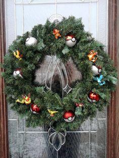 Pokemon wreath. Tis the season to catch em' all.