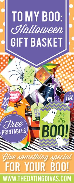 These free gift tags are perfect for a special Halloween gift! For my BOO - love it! www.TheDatingDivas.com