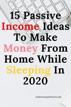 15 passive income ideas to make money from home while sleeping in from home ideas passively in 2020 with no experience Online Income, Online Earning, Earn Money Online, Online Jobs, Online College, Earn Money From Home, Make Money Blogging, Way To Make Money, How To Make