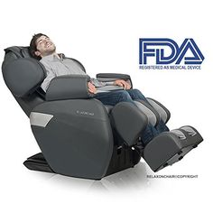 RELAXONCHAIR MK-II Massage Chair Zero with Built Heating and Hair Massage System - Charcoal *** You can get more details by clicking on the image.