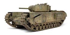 "Churchill Mk.I Dual 3"" Howitzers by Michael Rinaldi (Tamiya 1/35)"