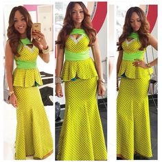 Beautiful Ankara Skirt and Blouse style http://www.dezangozone.com/2015/11/beautiful-ankara-skirt-and-blouse-style.html