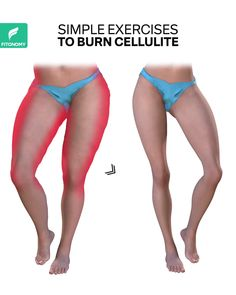 Cellulite often tends to accumulate on your butt and legs, so your cellulite exercise strategy needs to be to hit the lower body hard with high reps of moderately heavy strength moves. These workouts will attack that cellulite and tone those legs. Full Body Gym Workout, Gym Workout Videos, Gym Workout For Beginners, Fitness Workout For Women, Fitness Workouts, Butt Workout, Easy Workouts, At Home Workouts, Fitness Motivation