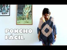 Poncho Joana em croche com Cisne Original com Cristina Amaduro - YouTube