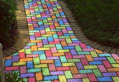 follow the colored brick road