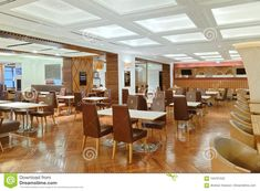 Empty Tables And Chairs In The Fast Food Area Editorial Photography - Image of company, beautiful: 104701532