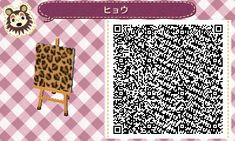 Animal Crossing New Leaf- Leopard Print for Furniture- QR Code