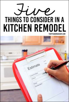 Top things to consider in a kitchen remodel. What we've done to prep for the big makeover!
