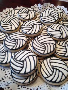 volleyball sugar cookies