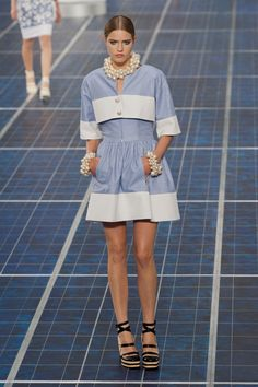 Yes to the dress and pearls! Chanel Spring 2013