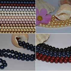 Swarovski Crystal Pearl necklaces in many coloures by Rika Unica Jewellery