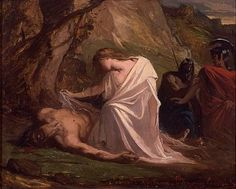 Antigone buries her brother even after Creon says no one is allowed to even think of him. She wanted to honor her brother and she knew the gods would be angry if someone would die without honor.