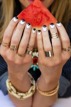 The watermelon, the nails, the rings - there is so much we love about this picture.