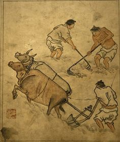 Korean Painter Kim Hong-do Korean Painting, Zen Art, Old Paintings, Korean Artist, Conceptual Art, Figure Painting, Asian Art, Art History, Modern Art