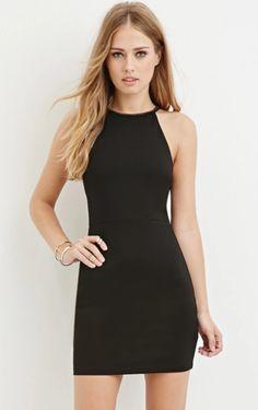 Embellished Bodycon Halter Dress  Forever 21