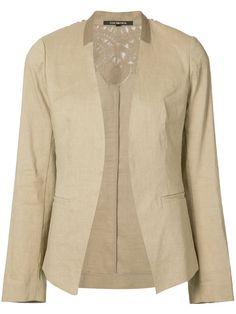 KOBI HALPERIN Collarless Open Blazer. #kobihalperin #cloth #blazer