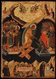 Four Icons from a Pair of Doors (Panels), possibly part of a Polyptych: John the Theologian and Prochoros, the Baptism (Epiphany), Harrowing of Hell (Anastasis), and Saint Nicholas Religious Icons, Religious Art, Architecture Design, Baptism Of Christ, The Transfiguration, Images Of Christ, Masonic Symbols, Baroque Art, Creta