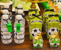 Imagem relacionada Soccer Birthday Parties, Football Birthday, Grad Parties, Soccer Baby, Kids Soccer, Soccer Snacks, Soccer Decor, Soccer Banquet, Kicker