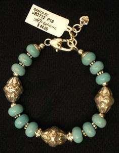 Brighton Santa Fe Turquoise Silver Plated Bracelet Jb2712 Nwt Pouch
