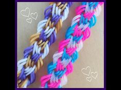 """Restless Tides"" rainbow loom Hook Only Bracelet/How To Tutorial - YouTube"