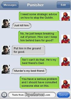 If Superheros Could Text