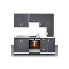 Cuisine otylia grise 220 cm, plans de travail inclus. Plus d'infos sur http://www.on-dstock.com/1179-thickbox_fbr/cuisine-otylia-220-cm.jpg
