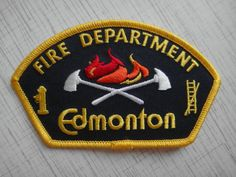 Patch fire Edmonton fire department Canada  100% ORIGINAL NEW