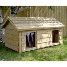 Double dog house if you have more than one dog they dont have to