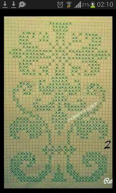 Crochet Flower Patterns, Crochet Flowers, Art Nouveau Pattern, Plastic Canvas Stitches, Palestinian Embroidery, Cross Stitch Letters, Pixel Pattern, Filet Crochet, Dobby
