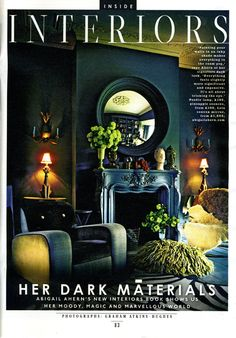 Style magazine The Sunday Times March 2013 Abigail Ahern press coverage Whisky Shop, Abigail Ahern, Dark Material, The Sunday Times, Sombre, Dark Interiors, Living Spaces, Living Room, Ground Floor