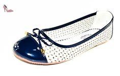 7952 TMY style belle ballerines pour femme bleu marine taille 41 - Multicolore - Bleu marine, 39 EU - Chaussures bts (*Partner-Link)