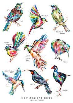 New zealand birds birds animals fiona clarke com travel tattoo new zealand ideas travel tattoo Maori Tattoos, Maori Tattoo Designs, Tattoos Skull, Marquesan Tattoos, Sleeve Tattoos, Borneo Tattoos, Hand Tattoos, Chris Garver, Foo Dog