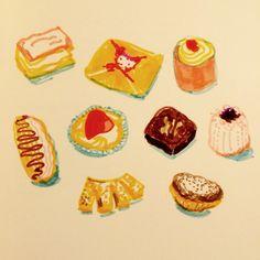 Bake a cake by Marie Åhfeldt - Mås Illustra