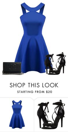 """Untitled #1137"" by patsypatsy ❤ liked on Polyvore featuring beauty, Chicnova Fashion and Schutz"