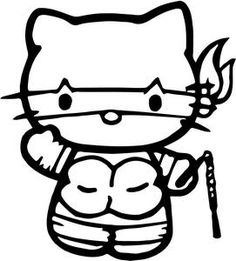 teenage mutant ninja kitty coloring | Hello Kitty Teenage Mutant...