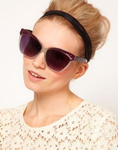 eb4f065262 ASOS Cat Eye Sunglasses with Contrast Highbrow Online Shopping Clothes