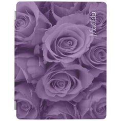 purple roses for this iPad cover.